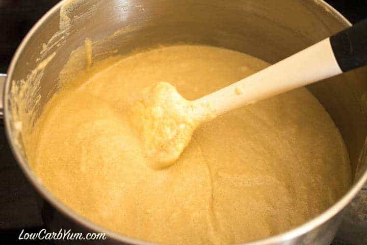 Egg fast coffee pudding finished mix