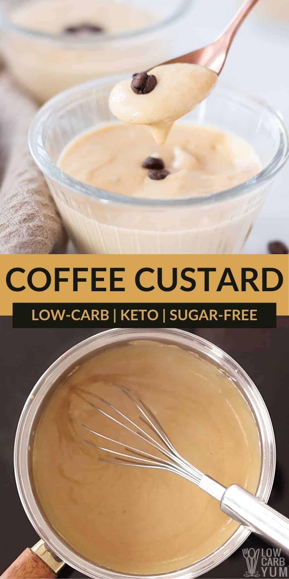 keto coffee custard pinterest image