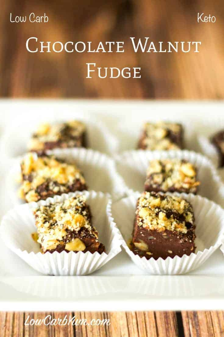 Low carb chocolate walnut fudge recipe