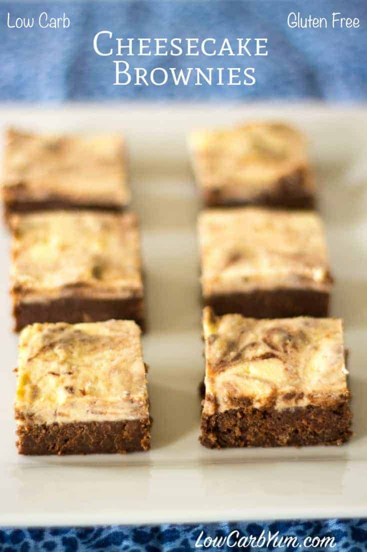These low carb gluten free cheesecake brownies are a delicious treat. Enjoy the taste of two great flavors, chocolate and cream cheese, blended together. LCHF Keto Diet Banting Dessert Recipe