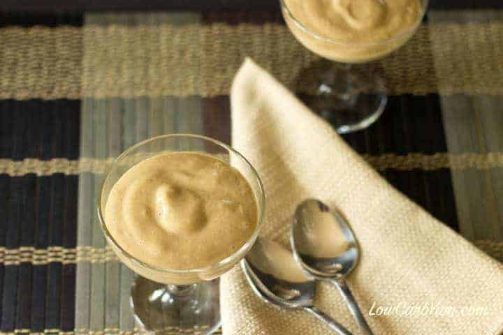 Low carb keto egg fast low carb coffee pudding
