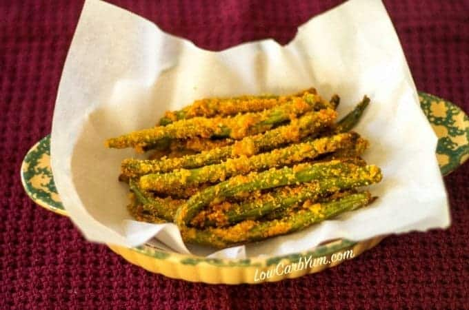 Low carb oven fried green beans recipe