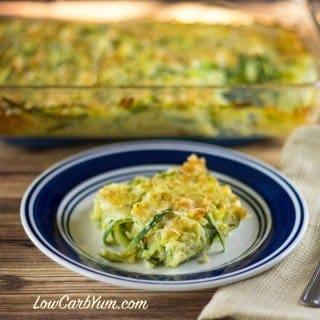 low carb spiralized zucchini casserole recipe