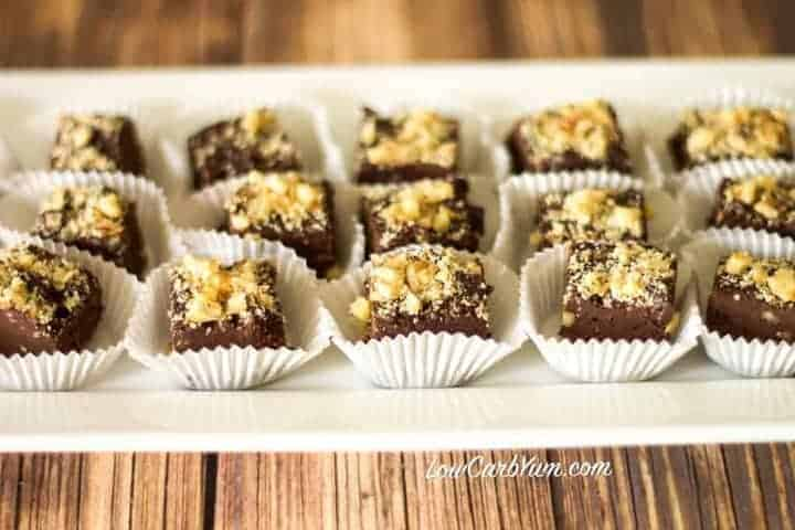 Low carb sugar free chocolate walnut fudge recipe