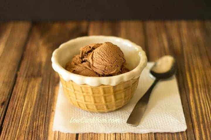 No egg low carb chocolate ice cream