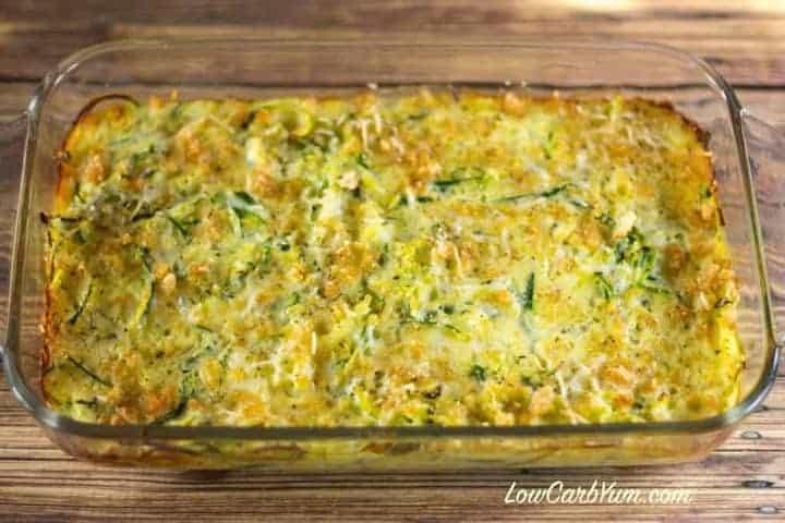 Baked spiralized zucchini casserole