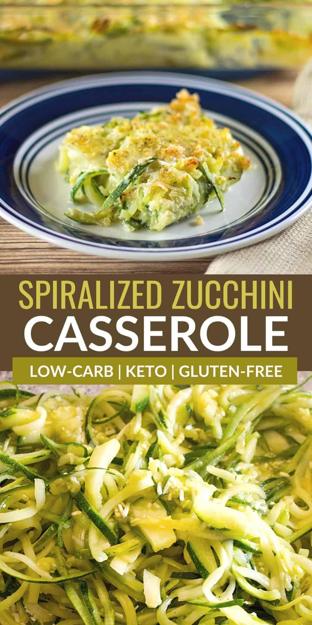 spiralized zucchini casserole pinterest image