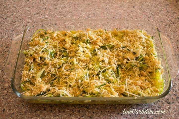 Spiralized Zucchini Casserole | Low Carb Yum