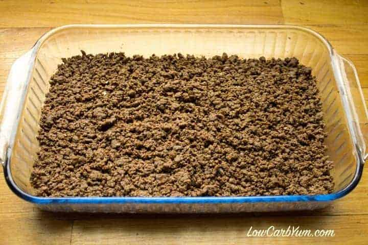 Ground beef layer