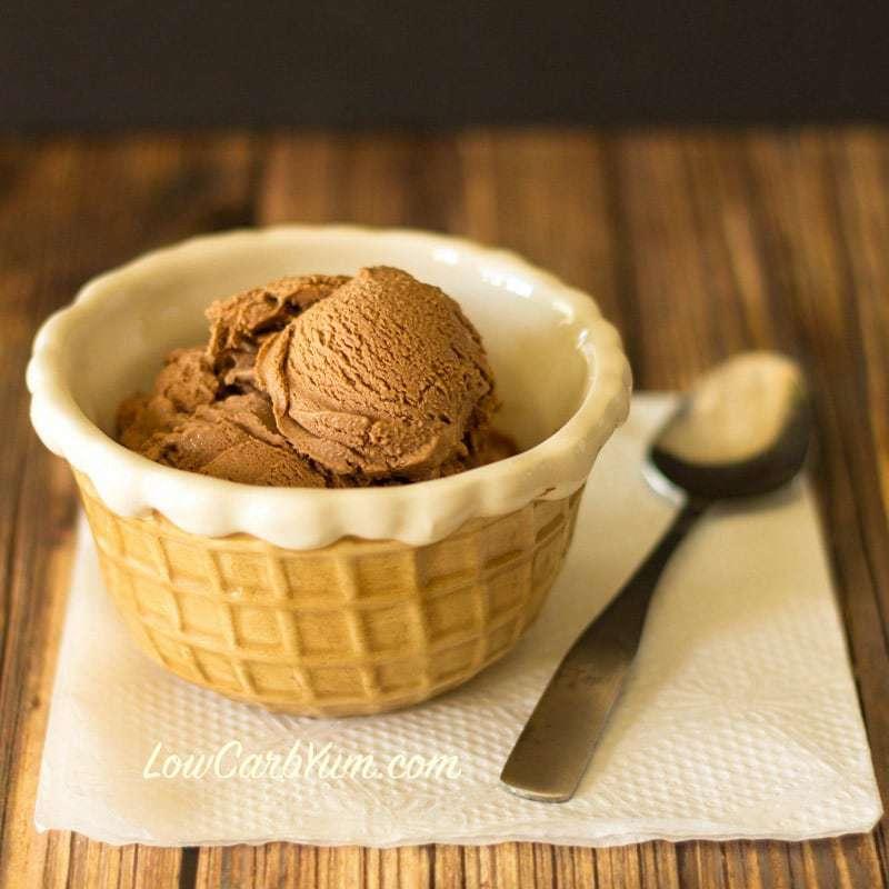 No Egg Homemade Chocolate Ice Cream