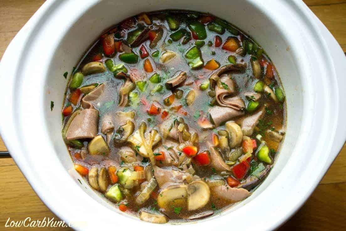 Philly Cheesesteak Soup Crock Pot