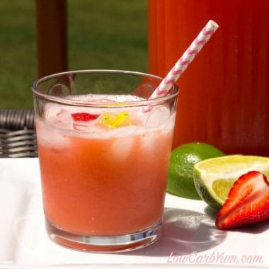 Low carb strawberry limeade