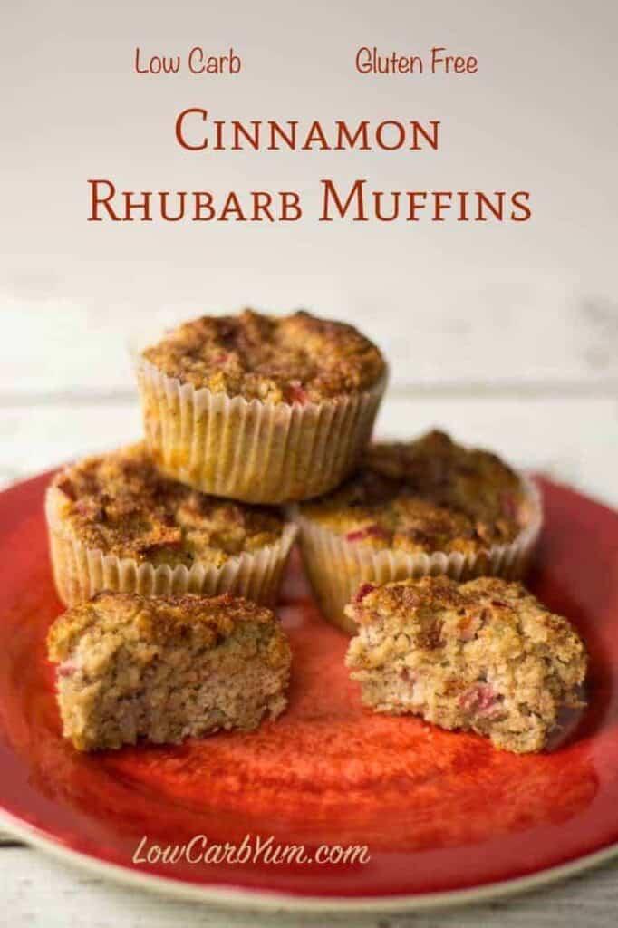 Low carb cinnamon rhubarb muffins recipe