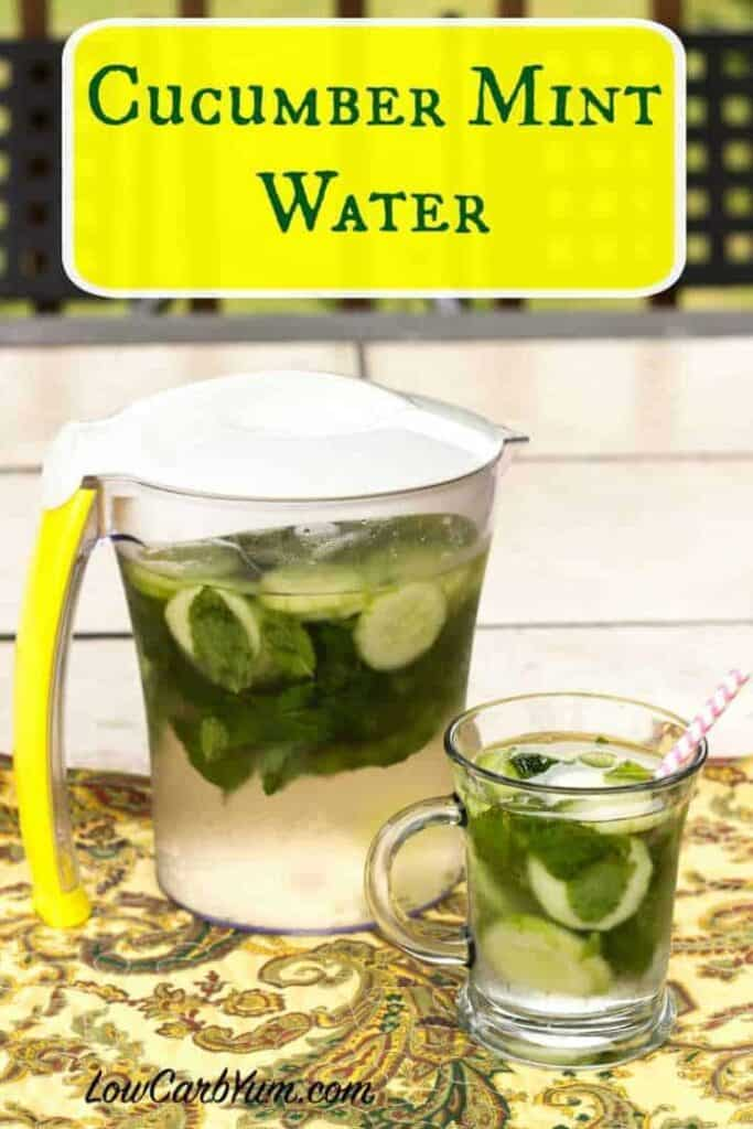 low carb cucumber mint infused water recipe
