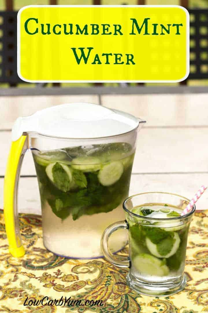 Low carb sugar free cucumber mint infused water recipe