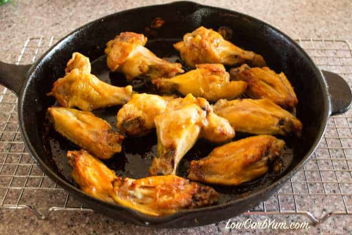 low carb keto baked chicken wings