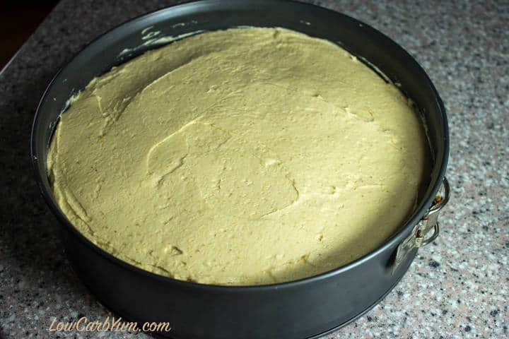 low carb peanut butter cheesecake springform pan