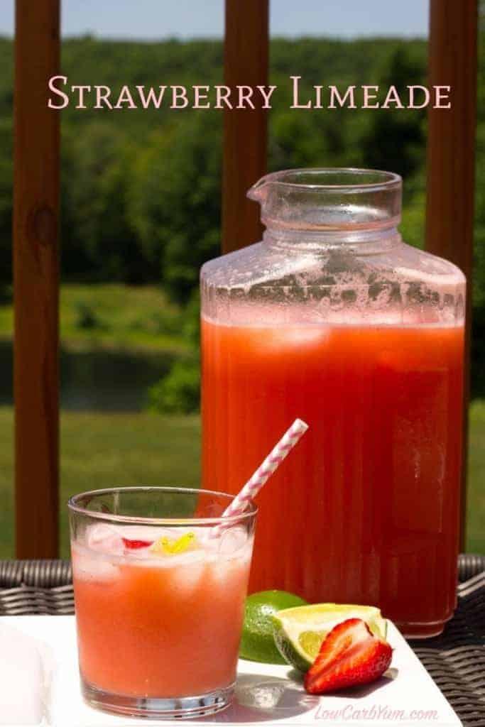 Sugar Free Strawberry Limeade Recipe Low Carb Juice