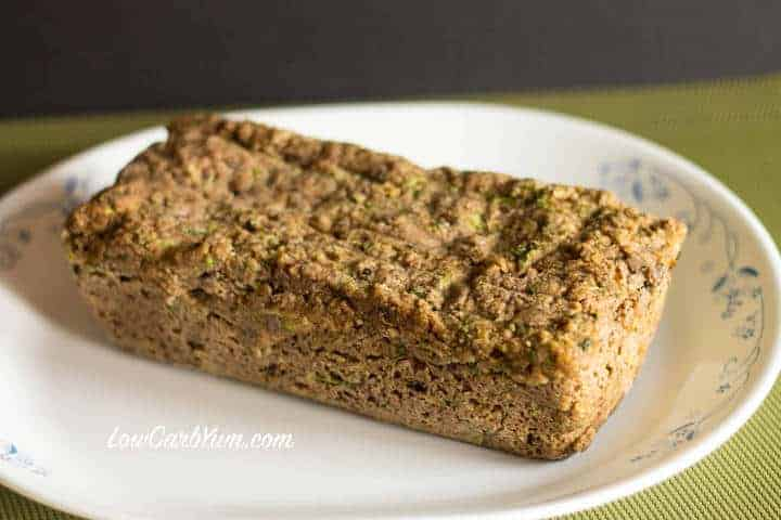 Crock pot zucchini bread cooling on platter