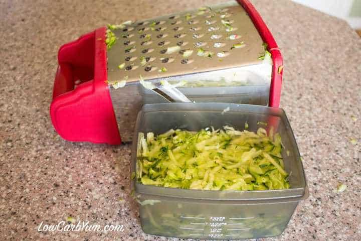 Grated zucchini squash