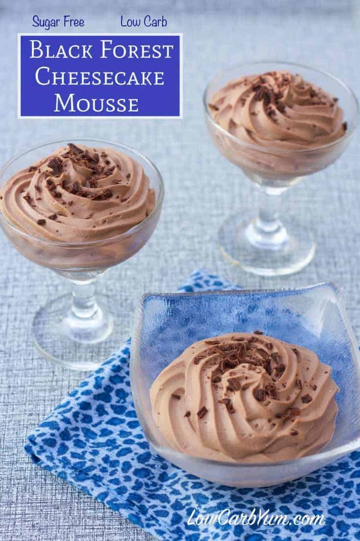 Low Carb Black Forest Cheesecake Mousse Recipe