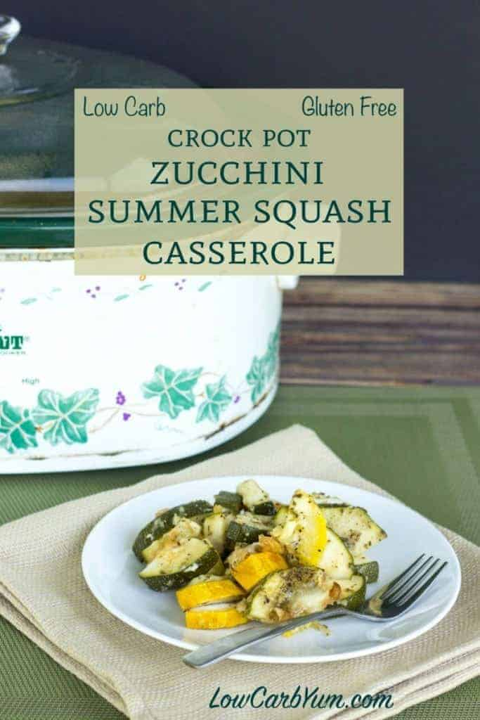 Low Carb Crock Pot Zucchini Summer Squash Recipe