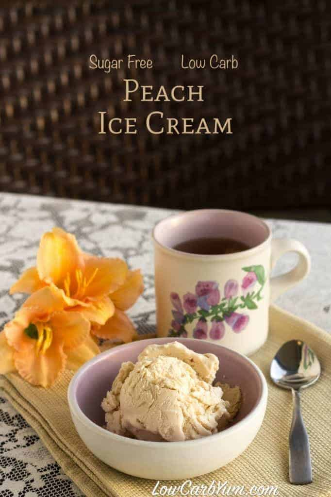 Low Carb Peach Tea Ice Cream Recipe