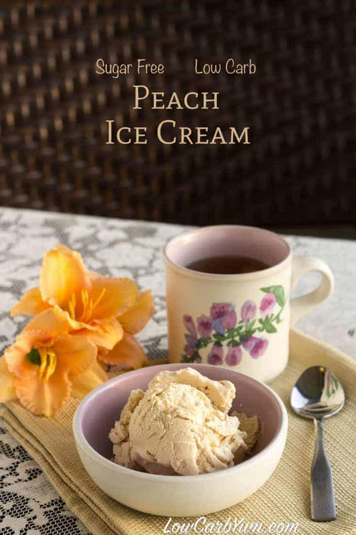 Low Carb Peach Tea Ice Cream Recipe