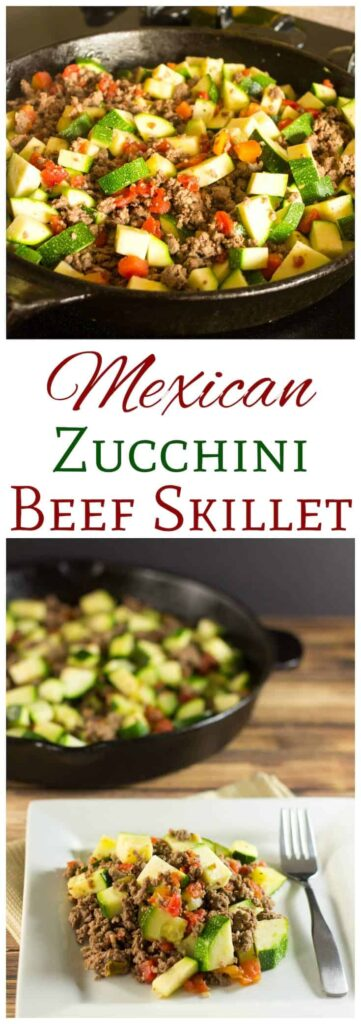 Mexican Zucchini Beef Skillet