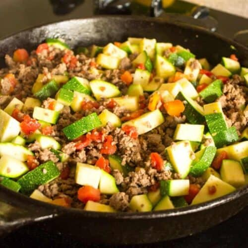 Mexican Zucchini and Beef