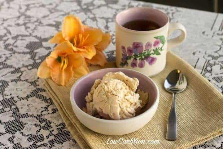 Sugar Free Low Carb Peach Ice Cream Recipe