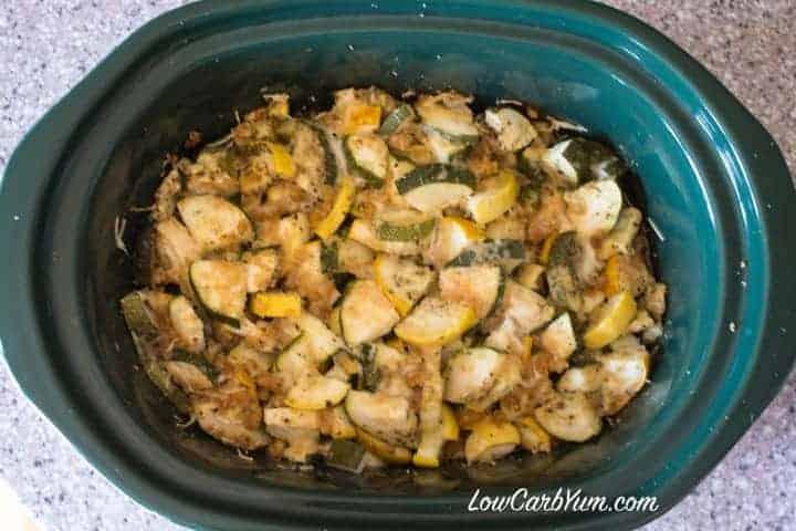 Zucchini Summer Squash in Crock Pot