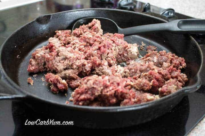 beef in skillet