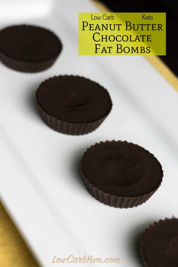 Low carb dairy free peanut butter chocolate fat bomb recipe