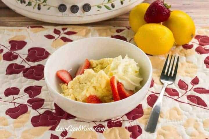 low carb gluten free crock pot lemon cake
