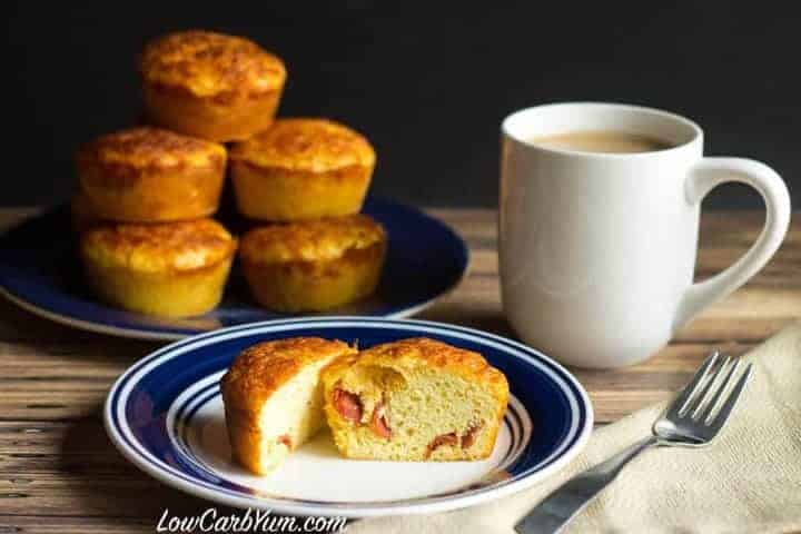 low carb gluten free pepperoni pizza breakfast muffins