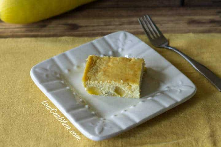 Low carb yellow squash custard cake no cream