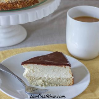 Boston Cream Cheesecake – Low Carb and Gluten Free