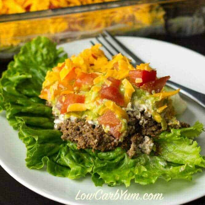 Easy Ground Beef Taco Salad Recipe: 30 Easy Low Carb Ground Beef Recipes (Atkins)