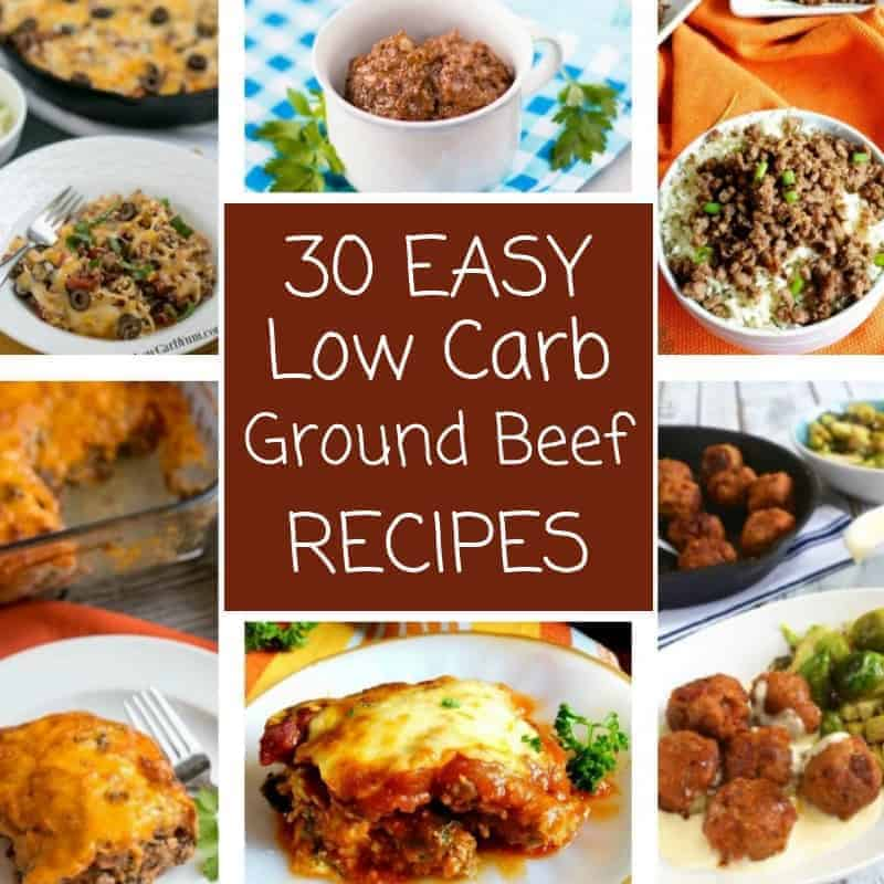 Easy Meals Using Ground Beef: 30 Easy Low Carb Ground Beef Recipes (Atkins)