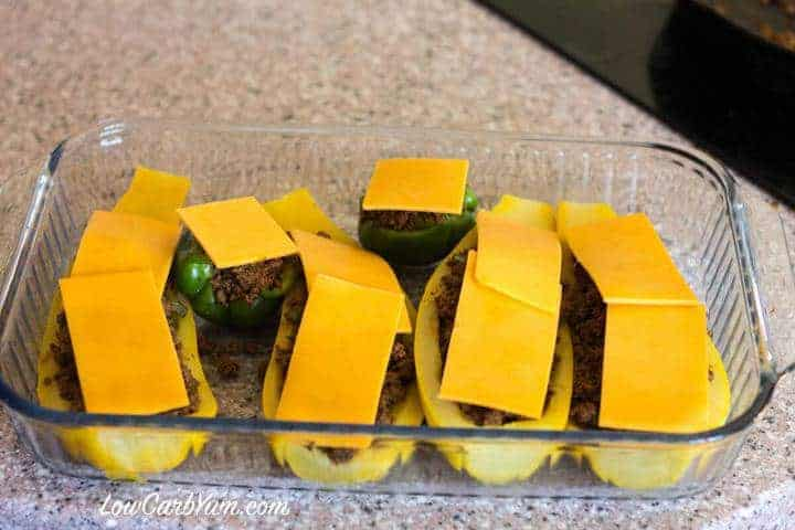 low carb taco stuffed yellow squash cheese