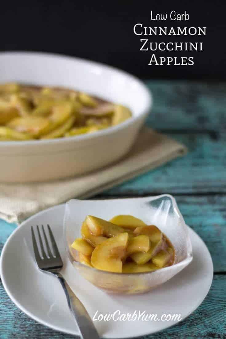 Low carb zucchini cinnamon apples recipe