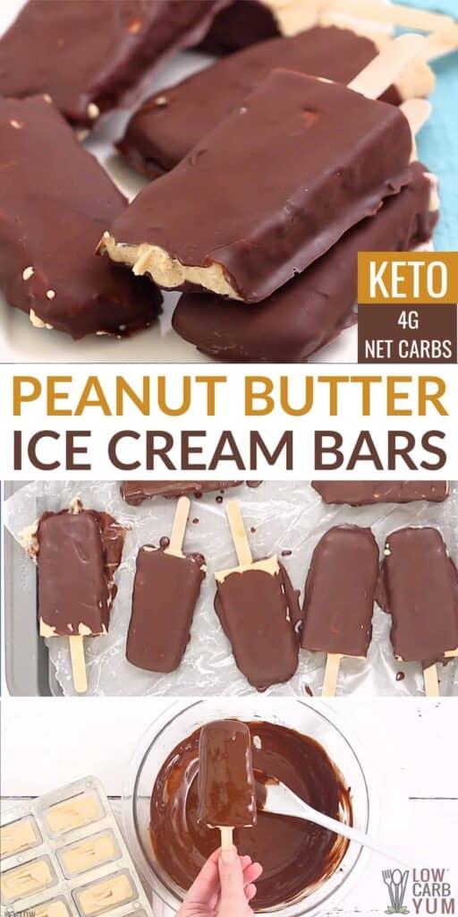 keto peanut butter ice cream bars
