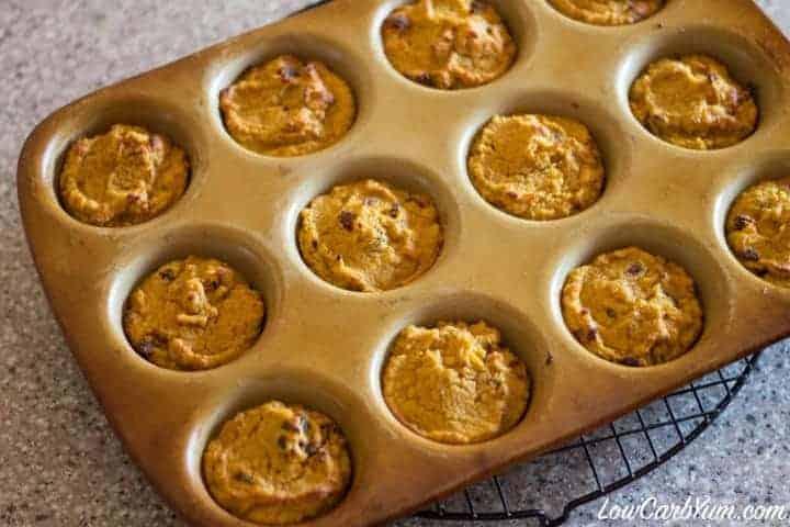 Coconut flour cranberry pumpkin muffins baked