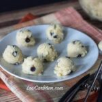 Low carb coconut flour chocolate chip cookie dough bites