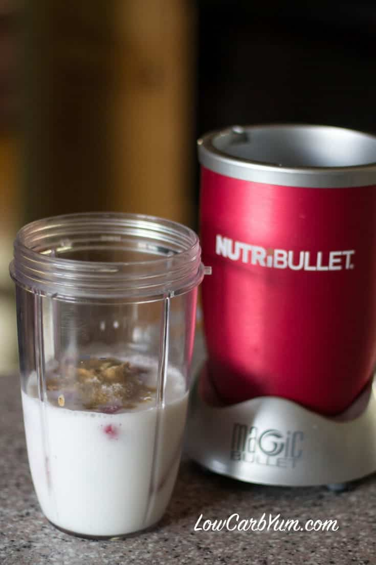 Low carb strawberry coconut milk smoothie