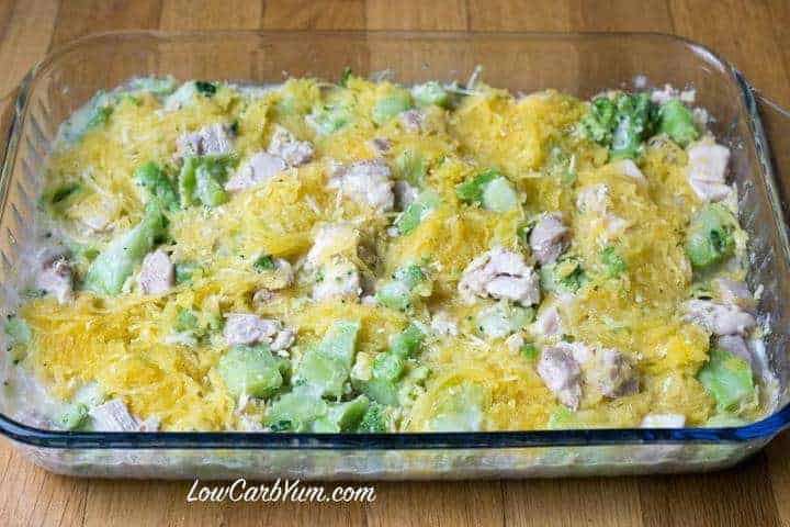 Chicken Broccoli Squash Casserole