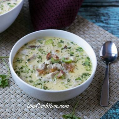 Cream of Chicken Soup with Bacon and Mushrooms
