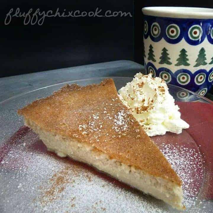 Impossible Eggnog Pie