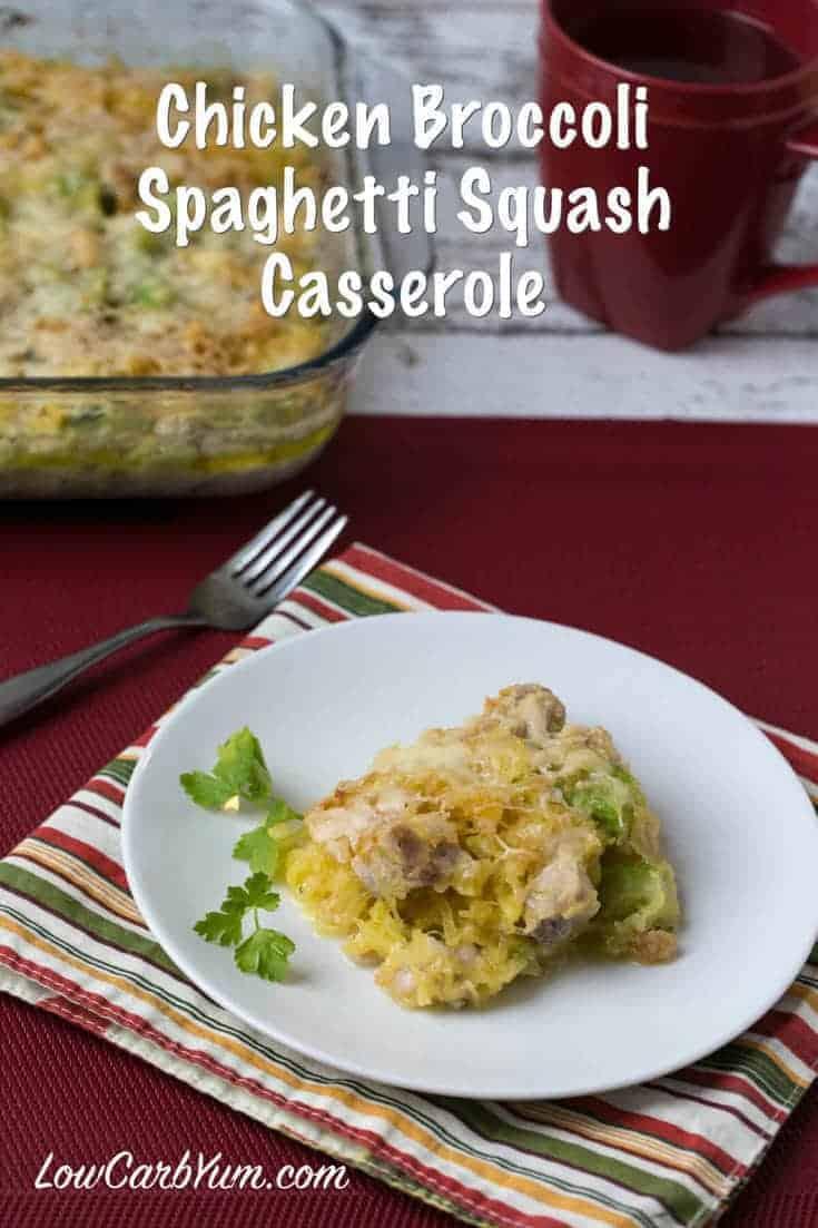 easy chicken spaghetti squash casserole